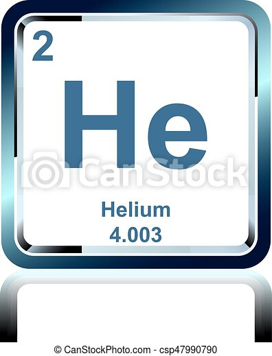 Chemical Element Helium From The Periodic Table Symbol Of Chemical