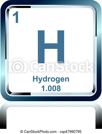 Chemical element hydrogen from the periodic table symbol of chemical element hydrogen from the periodic table csp47990795 urtaz Gallery