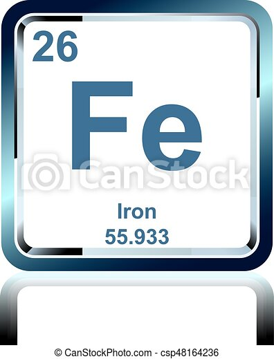 Chemical Element Iron From The Periodic Table Symbol Of Chemical