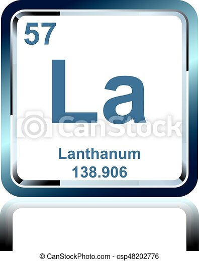 Chemical Element Lanthanum From The Periodic Table Symbol Of