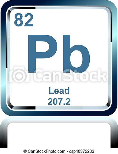 Chemical Element Lead From The Periodic Table Symbol Of Chemical