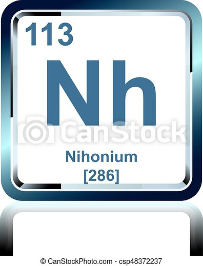 Chemical element nihonium from...