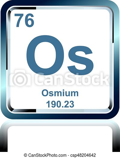 Chemical Element Osmium From The Periodic Table Symbol Of Eps