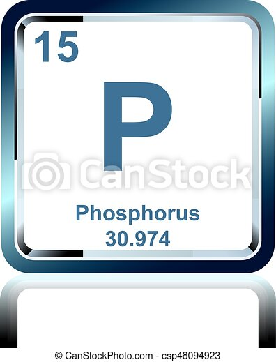 Chemical Element Phosphorus From The Periodic Table Symbol Of