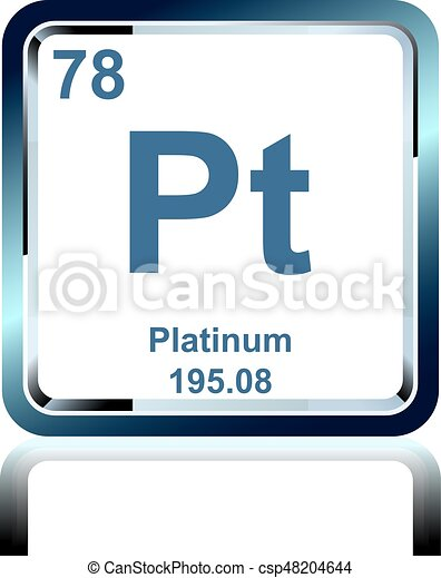 Chemical Element Platinum From The Periodic Table Symbol Of