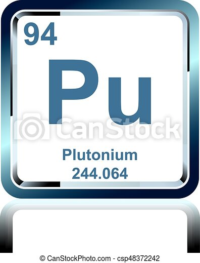 Chemical Element Plutonium From The Periodic Table Symbol Of