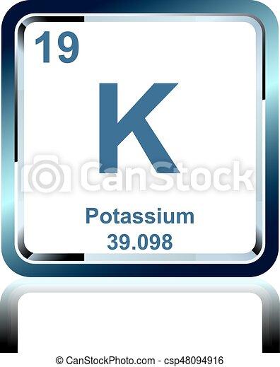 Chemical element potassium from the periodic table symbol of chemical element potassium from the periodic table csp48094916 urtaz Choice Image