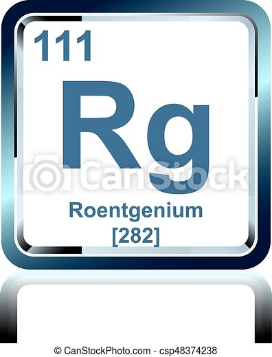 Chemical element roentgenium from the periodic table symbol of chemical element roentgenium from the periodic table csp48374238 urtaz Gallery