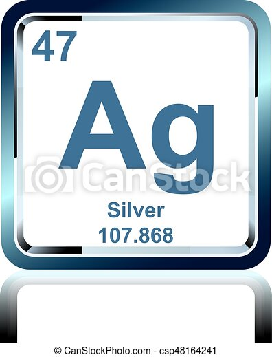 Chemical element silver from the periodic table symbol of chemical chemical element silver from the periodic table csp48164241 urtaz Image collections