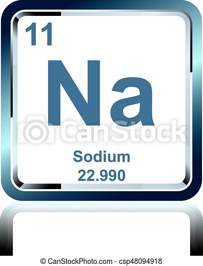 Chemical element sodium from the periodic table symbol of chemical chemical element sodium from the periodic table csp48094918 urtaz Image collections