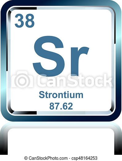Chemical Element Strontium From The Periodic Table Symbol Of