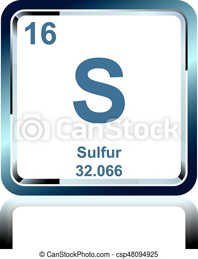 Chemical element sulfur from the periodic table symbol of chemical chemical element sulfur from the periodic table csp48094925 urtaz Gallery