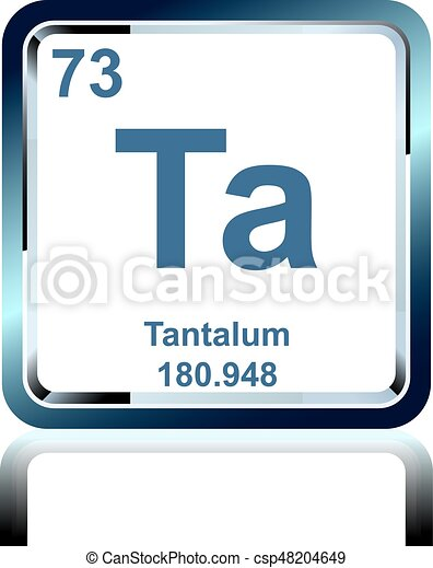 Chemical Element Tantalum From The Periodic Table Symbol Of