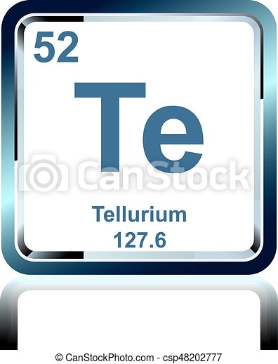 Chemical Element Tellurium From The Periodic Table Symbol Of