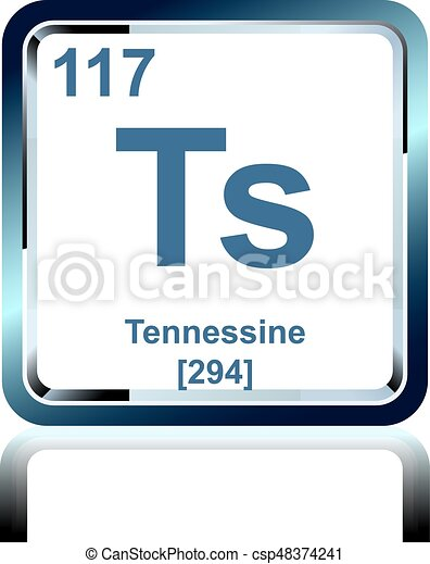 Chemical Element Tennessine From The Periodic Table Symbol Of