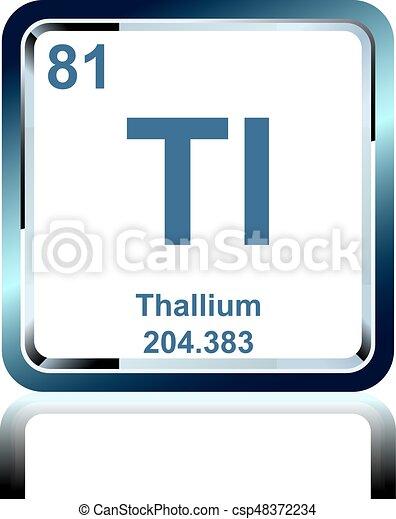 Chemical element thallium from the periodic table symbol of chemical element thallium from the periodic table csp48372234 urtaz Choice Image
