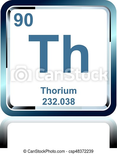 Chemical Element Thorium From The Periodic Table Symbol Of Chemical