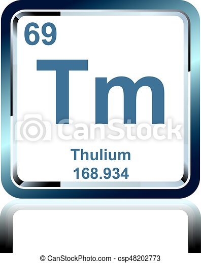 Chemical element thulium from the periodic table symbol of chemical symbol of chemical element thulium as seen on the periodic table of the elements including atomic number and atomic weight urtaz Image collections