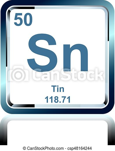 Chemical Element Tin From The Periodic Table Symbol Of Chemical
