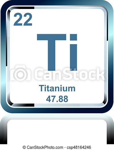 Chemical Element Titanium From The Periodic Table Symbol Of