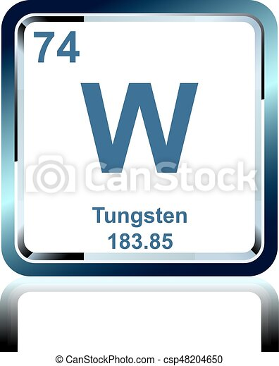Chemical element tungsten from the periodic table symbol of chemical element tungsten from the periodic table csp48204650 urtaz Image collections