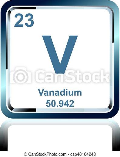 Chemical element vanadium from the periodic table symbol of chemical element vanadium from the periodic table csp48164243 urtaz Choice Image