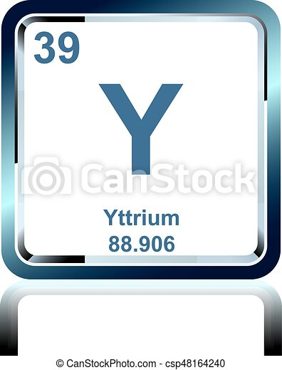 Chemical element yttrium from the periodic table symbol of eps chemical element yttrium from the periodic table vector urtaz Images