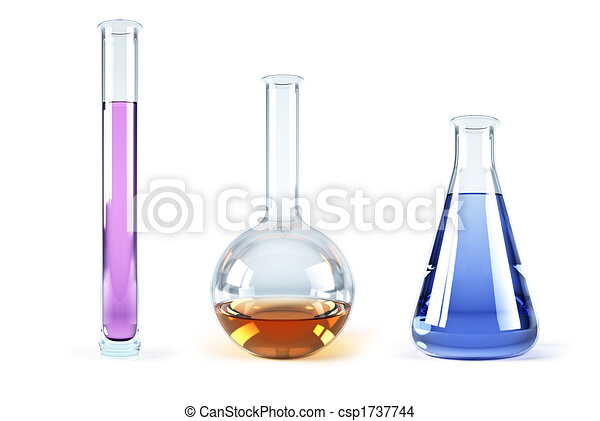 chemical flasks with reagents - csp1737744