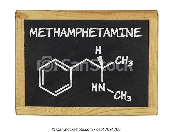 chemical formula of methamphetamine - csp17691768