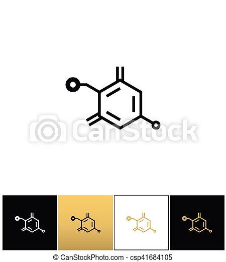 Chemical Formula Structure Vector Icon Chemical Formula Structure