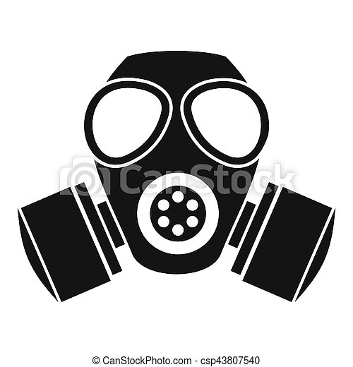 chemical gas mask icon simple style chemical gas mask icon simple rh canstockphoto com gas mask cartoon pic gas mask cartoon