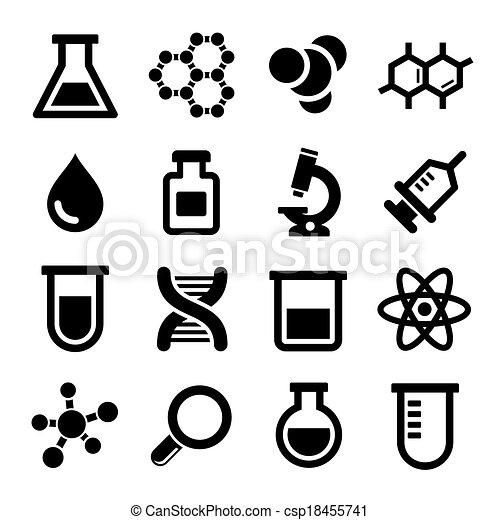 Chemical icons set - csp18455741