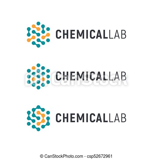 Chemical lab logo template. abstract hexagon vector... clip art vector - Search ...  Chemical lab lo...