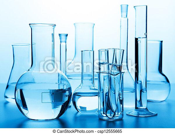 chemical laboratory glassware  - csp12555665