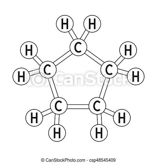 Chemical Oil Formulaoil Single Icon In Outline Style Raster Bitmap