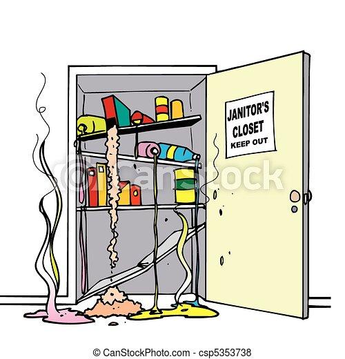 Chemical Spills Closet Vector