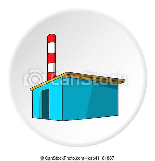 Chemical warehouse icon, cartoon style - csp41181887