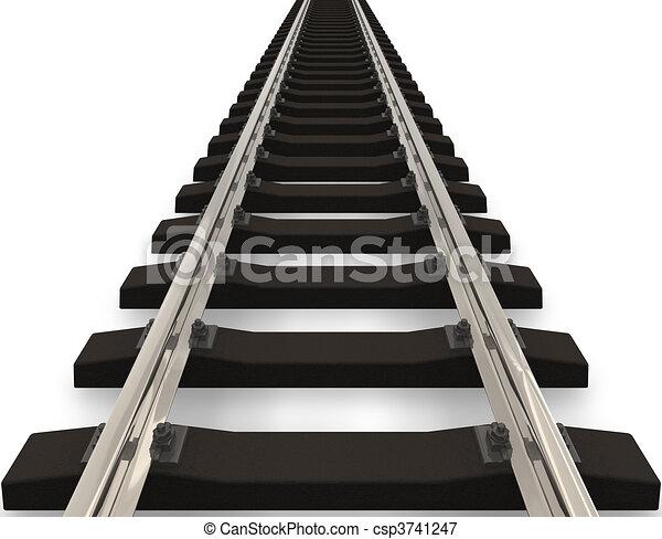 chemin fer, concept - csp3741247