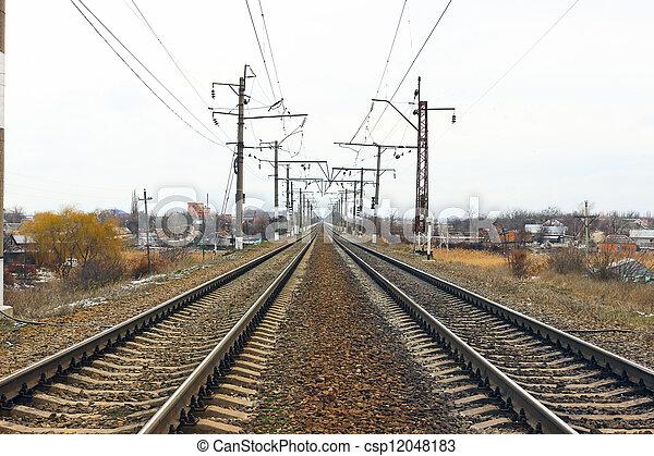 chemin fer - csp12048183