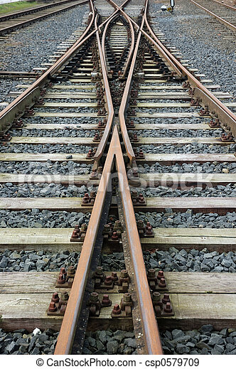 chemin fer traque - csp0579709