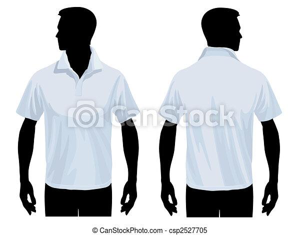 chemise polo, gabarit - csp2527705