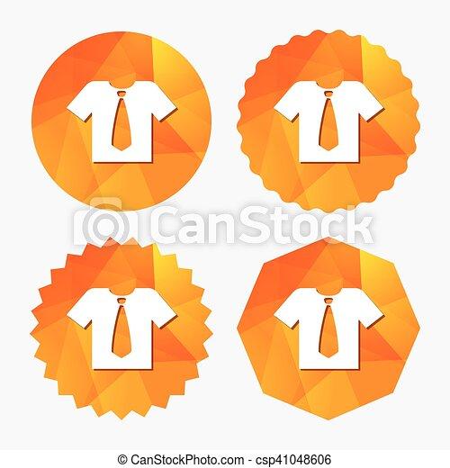 profiter de la livraison gratuite soldes bons plans sur la mode chemise, symbole., signe, cravate, icon., vêtements