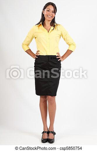 chemisier, femme, jupe, business - csp5850754