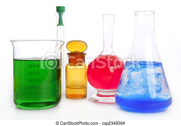 Chemist research laboratory with chemical equipment - csp2349394
