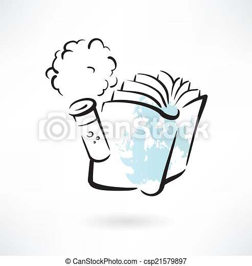 chemistry book grunge icon - csp21579897
