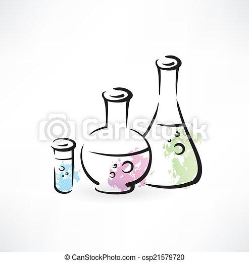chemistry grunge icon - csp21579720