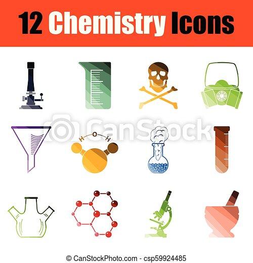 Chemistry icon set - csp59924485