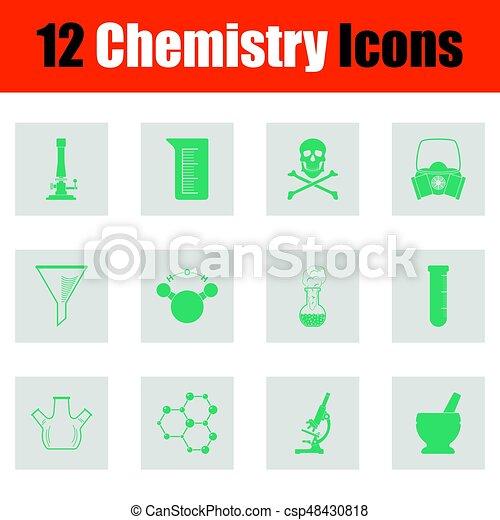 Chemistry icon set - csp48430818