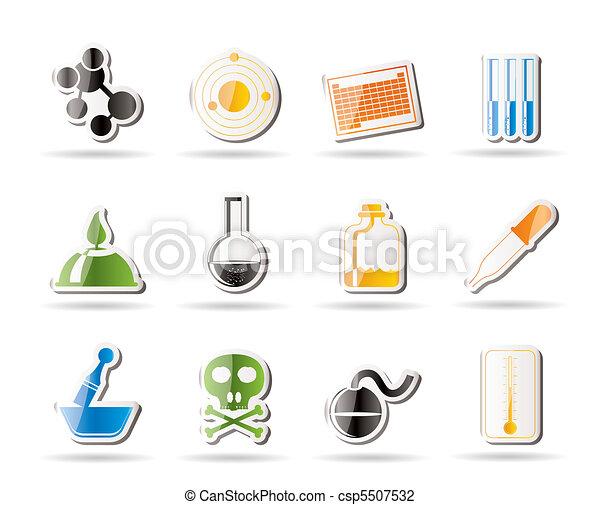 Chemistry industry icons  - csp5507532