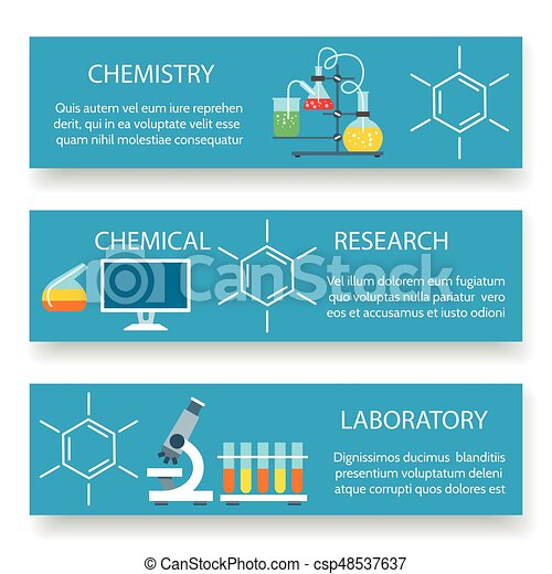 Chemistry lab banners set - csp48537637